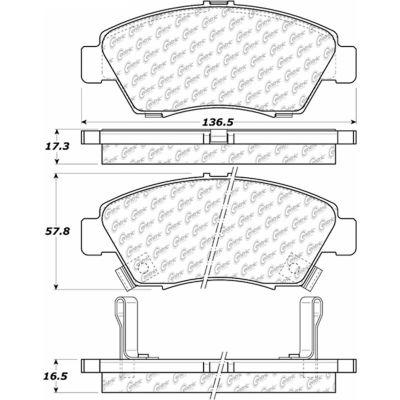 C-Tek Ceramic Brake Pads with Shims, C-Tek 103.06210