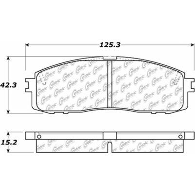 C-Tek Ceramic Brake Pads with Shims, C-Tek 103.06220