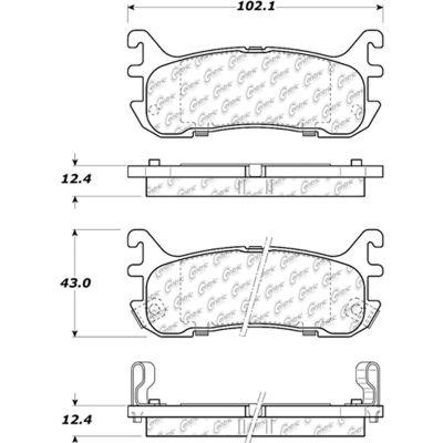 C-Tek Ceramic Brake Pads with Shims, C-Tek 103.06360