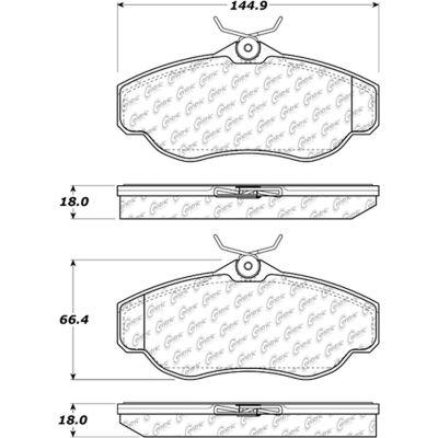 C-Tek Ceramic Brake Pads with Shims, C-Tek 103.06760