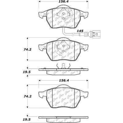 C-Tek Ceramic Brake Pads with Shims, C-Tek 103.06871