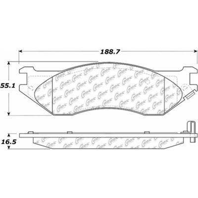 C-Tek Ceramic Brake Pads with Shims, C-Tek 103.07020