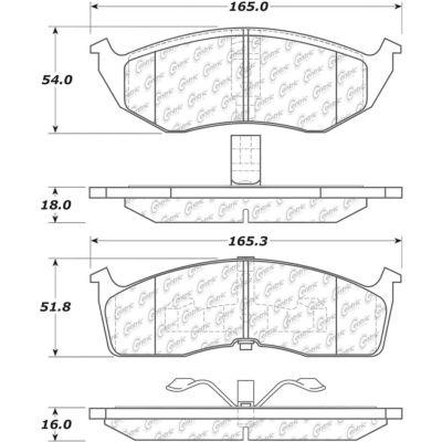 C-Tek Ceramic Brake Pads with Shims, C-Tek 103.07300