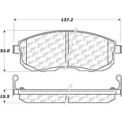 C-Tek Ceramic Brake Pads with Shims, C-Tek 103.08151