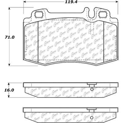 C-Tek Ceramic Brake Pads with Shims, C-Tek 103.08470
