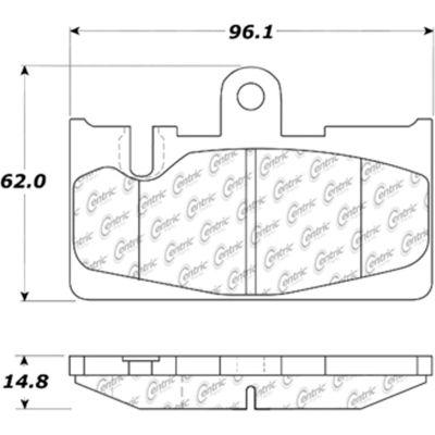 C-Tek Ceramic Brake Pads with Shims, C-Tek 103.08710