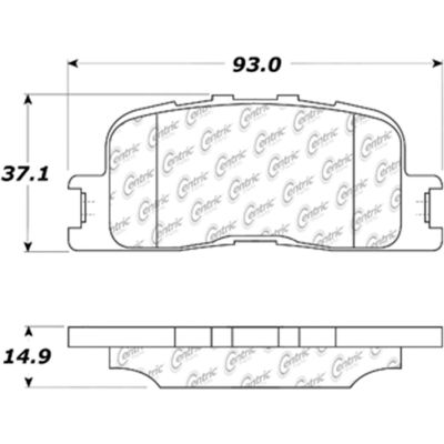 C-Tek Ceramic Brake Pads with Shims, C-Tek 103.08850