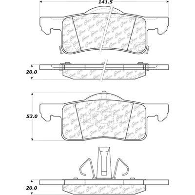 C-Tek Ceramic Brake Pads with Shims, C-Tek 103.09350