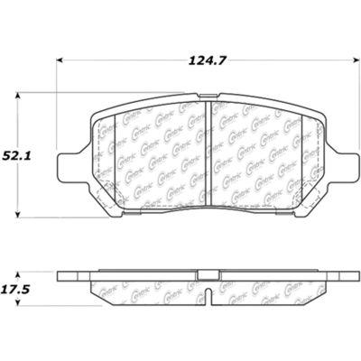 C-Tek Ceramic Brake Pads with Shims, C-Tek 103.09560