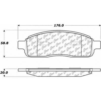 C-Tek Ceramic Brake Pads with Shims, C-Tek 103.10110
