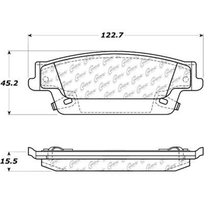 C-Tek Ceramic Brake Pads with Shims, C-Tek 103.10200