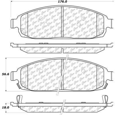 C-Tek Ceramic Brake Pads with Shims, C-Tek 103.10800
