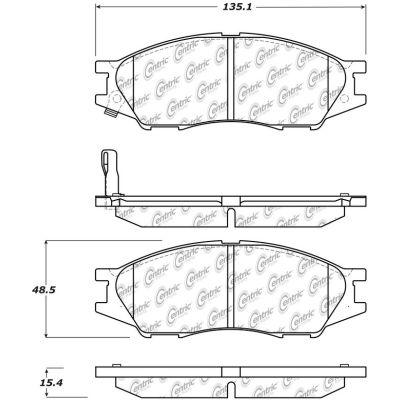 C-Tek Ceramic Brake Pads with Shims, C-Tek 103.11930