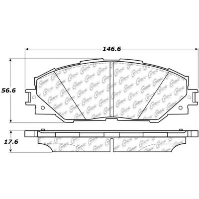 C-Tek Ceramic Brake Pads with Shims, C-Tek 103.12110