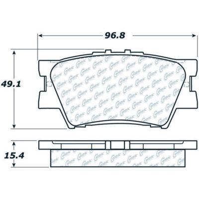C-Tek Ceramic Brake Pads with Shims, C-Tek 103.12120