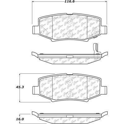 C-Tek Ceramic Brake Pads with Shims, C-Tek 103.12740