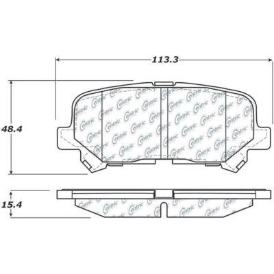 C-Tek Ceramic Brake Pads with Shims, C-Tek 103.12810