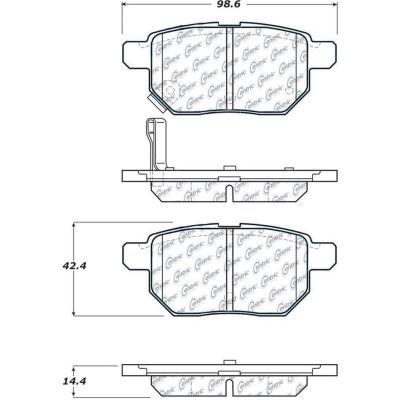C-Tek Ceramic Brake Pads with Shims, C-Tek 103.13540