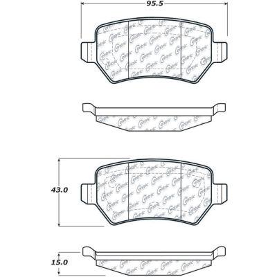C-Tek Ceramic Brake Pads with Shims, C-Tek 103.13620