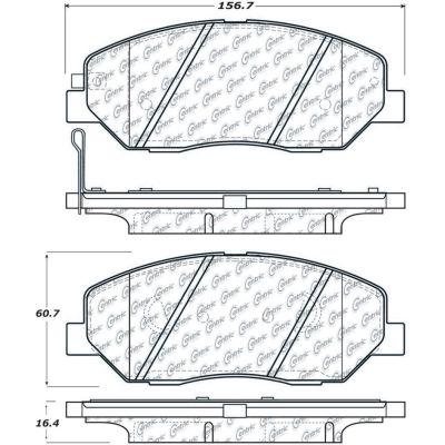 C-Tek Ceramic Brake Pads with Shims, C-Tek 103.13840