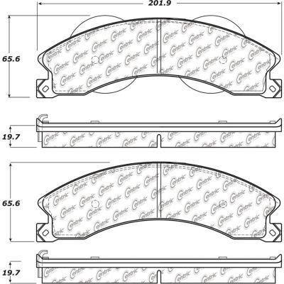 C-Tek Ceramic Brake Pads with Shims, C-Tek 103.14110