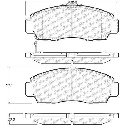 C-Tek Ceramic Brake Pads with Shims, C-Tek 103.15060