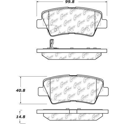C-Tek Ceramic Brake Pads with Shims, C-Tek 103.15440