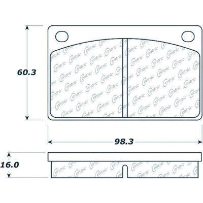 Posi Quiet Semi-Metallic Brake Pads , Posi Quiet 104.00430