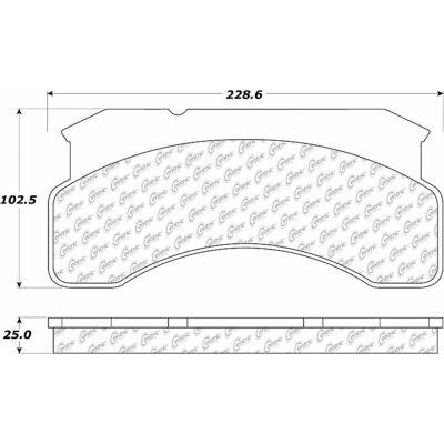 Posi Quiet Semi-Metallic Brake Pads , Posi Quiet 104.02360