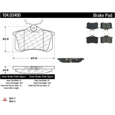 Posi Quiet Semi-Metallic Brake Pads , Posi Quiet 104.03400