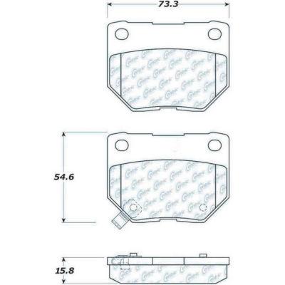 Posi Quiet Semi-Metallic Brake Pads , Posi Quiet 104.04611