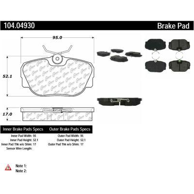 Posi Quiet Semi-Metallic Brake Pads , Posi Quiet 104.04930
