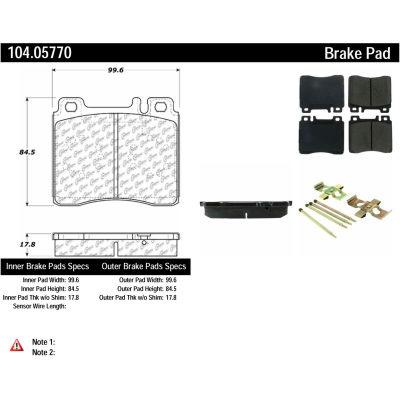 Posi Quiet Semi-Metallic Brake Pads with Hardware , Posi Quiet 104.05770
