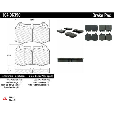 Posi Quiet Semi-Metallic Brake Pads , Posi Quiet 104.06390