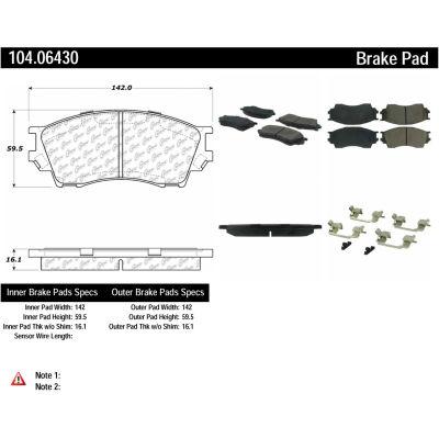 Posi Quiet Semi-Metallic Brake Pads with Hardware , Posi Quiet 104.06430