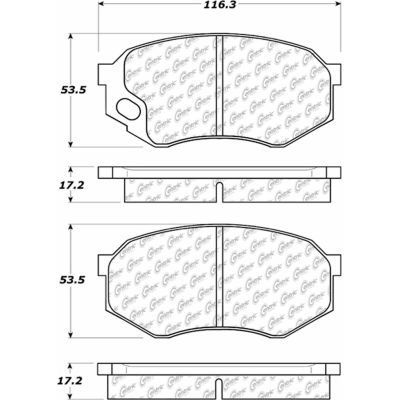 Posi Quiet Semi-Metallic Brake Pads with Hardware , Posi Quiet 104.07350