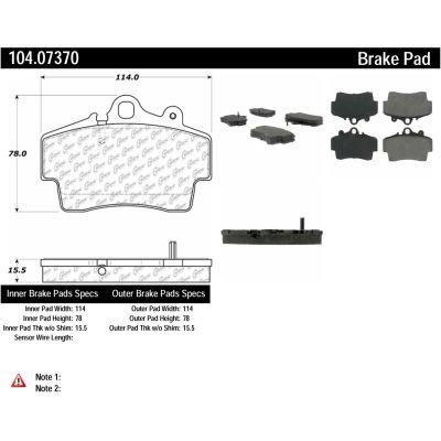 Posi Quiet Semi-Metallic Brake Pads with Hardware , Posi Quiet 104.07370