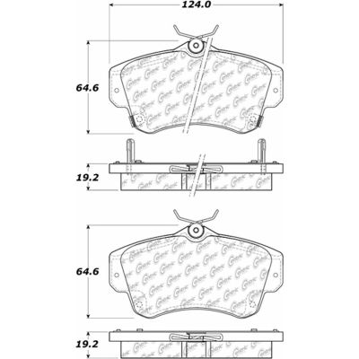 Posi Quiet Semi-Metallic Brake Pads with Hardware , Posi Quiet 104.08410