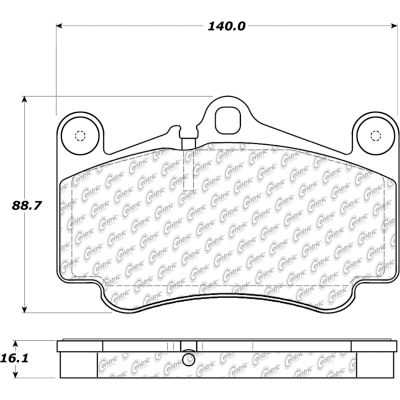 Posi Quiet Semi-Metallic Brake Pads with Hardware , Posi Quiet 104.09160