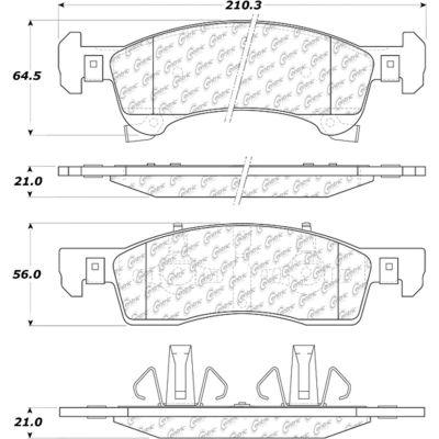 Posi Quiet Semi-Metallic Brake Pads with Hardware , Posi Quiet 104.09340