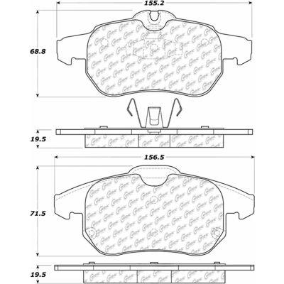 Posi Quiet Semi-Metallic Brake Pads with Hardware , Posi Quiet 104.09720