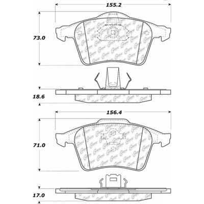 Posi Quiet Semi-Metallic Brake Pads with Hardware , Posi Quiet 104.09790