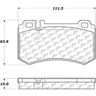 Posi Quiet Semi-Metallic Brake Pads , Posi Quiet 104.09840