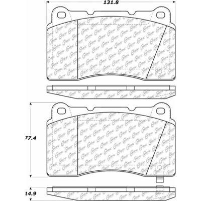 Posi Quiet Semi-Metallic Brake Pads , Posi Quiet 104.10010