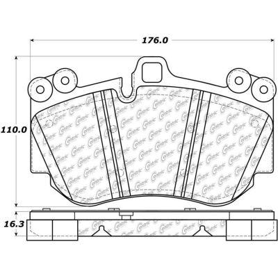 Posi Quiet Semi-Metallic Brake Pads , Posi Quiet 104.11300