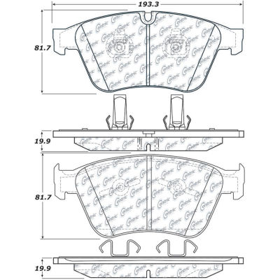 Posi Quiet Semi-Metallic Brake Pads , Posi Quiet 104.12710