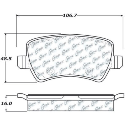 Posi Quiet Semi-Metallic Brake Pads with Hardware , Posi Quiet 104.13070