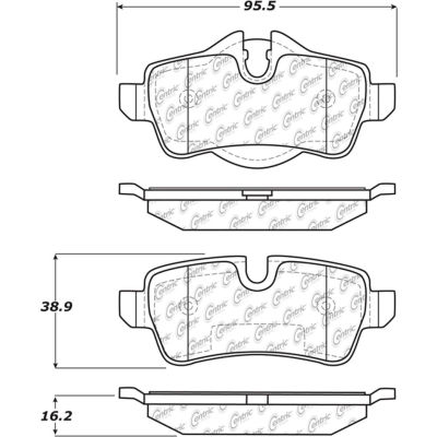 Posi Quiet Semi-Metallic Brake Pads with Hardware , Posi Quiet 104.13090