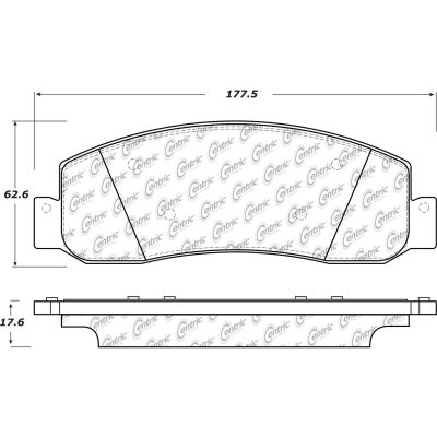 Posi Quiet Semi-Metallic Brake Pads with Hardware , Posi Quiet 104.13330
