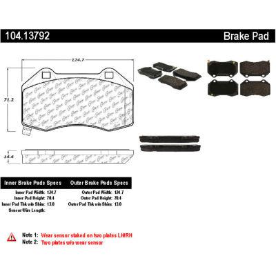 Posi Quiet Semi-Metallic Brake Pads with Hardware , Posi Quiet 104.13792